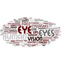 Eyes word cloud concept vector