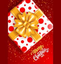 festive christmas greeting card vector image