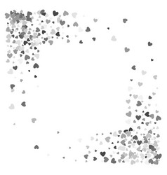 Frame or border random scatter hearts vector
