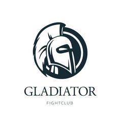 gladiator head logo design vector image