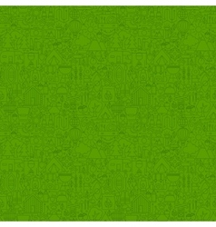 Green Line Camping Seamless Pattern vector