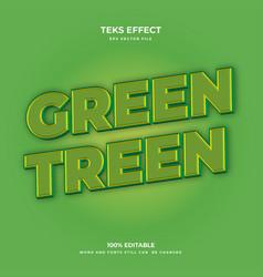 green treen vector image