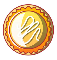 gustards bakery icon cartoon style vector image