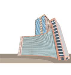 Hospital modern building vector