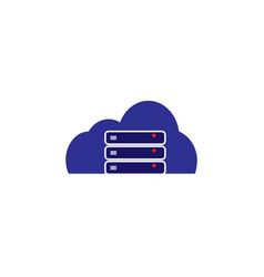 hosting cloud server template vector image