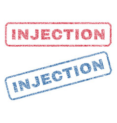 Injection textile stamps vector
