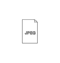 jpeg file icon vector image