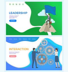 leadership and interaction between worker leader vector image