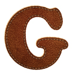 Leather textured letter G vector