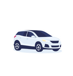 Modern suv car vector