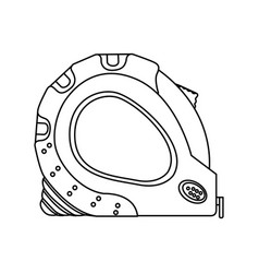 Monochrome line contour of tape measure tool vector