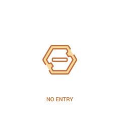 no entry concept 2 colored icon simple line vector image