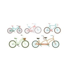Old retro style bicycles vector
