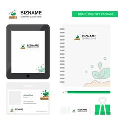 plant business logo tab app diary pvc employee vector image