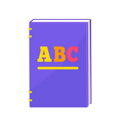 Primer book with hardcover vector