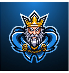 royal king head mascot logo vector image