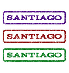Santiago watermark stamp vector