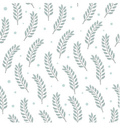 seamless leaf pattern green tree branches vector image