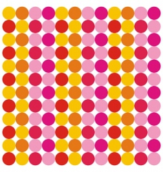 seamless pattern from colorful circles vector image