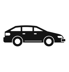 sedan car icon simple style vector image