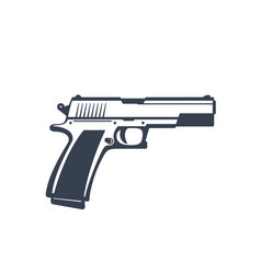 Semi-automatic pistol handgun isolated on white vector