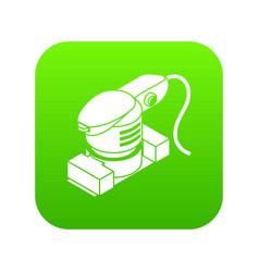 Sheet sander icon green vector