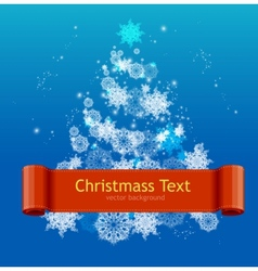 Simple Card with white Christmas tree vector