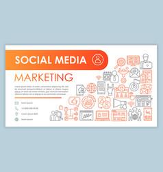 Smm web banner business card template social vector