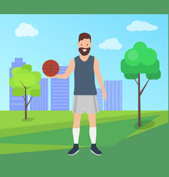 sport games outdoors concept young athletic man vector image