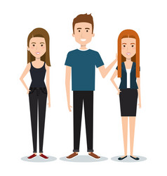 Standing people design vector