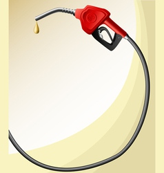 Text frame with fuel nozzle vector image