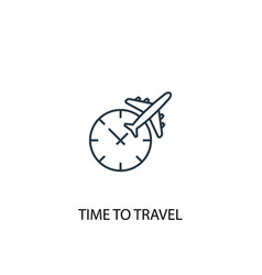 time to travel concept line icon simple element vector image