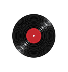 vinyl disk record isolated on white background vector image