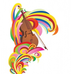 violin color curves vector image