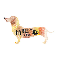 With dog typography poster vector
