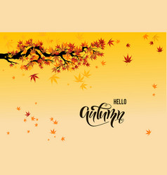yellow fall leaves vector image