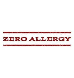 Zero Allergy Watermark Stamp vector