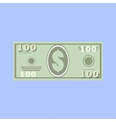 dollars money banknote vector image