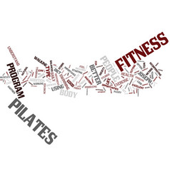 fitness and pilates text background word cloud vector image