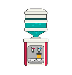 flat icon for water cooler vector image vector image