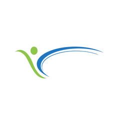 Fun people healthy life logo template icon vector