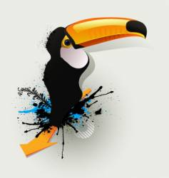 graffiti drawing birds vector image