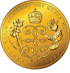 Money gold coin Dollar Bermuda vector image vector image