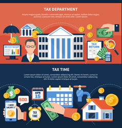 tax time horizontal banners vector image