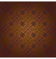 Seamless ornamental wallpaper vector image