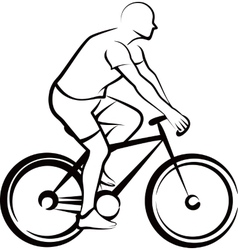 simple with a bicycler vector image vector image