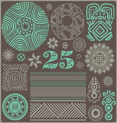 25 elements of the african style06 vector