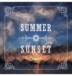 Abstract Geometric background Summer abstract vector image vector image