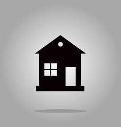 house icon black silhouette on background vector image vector image