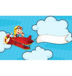 monkey in airplane vector image vector image